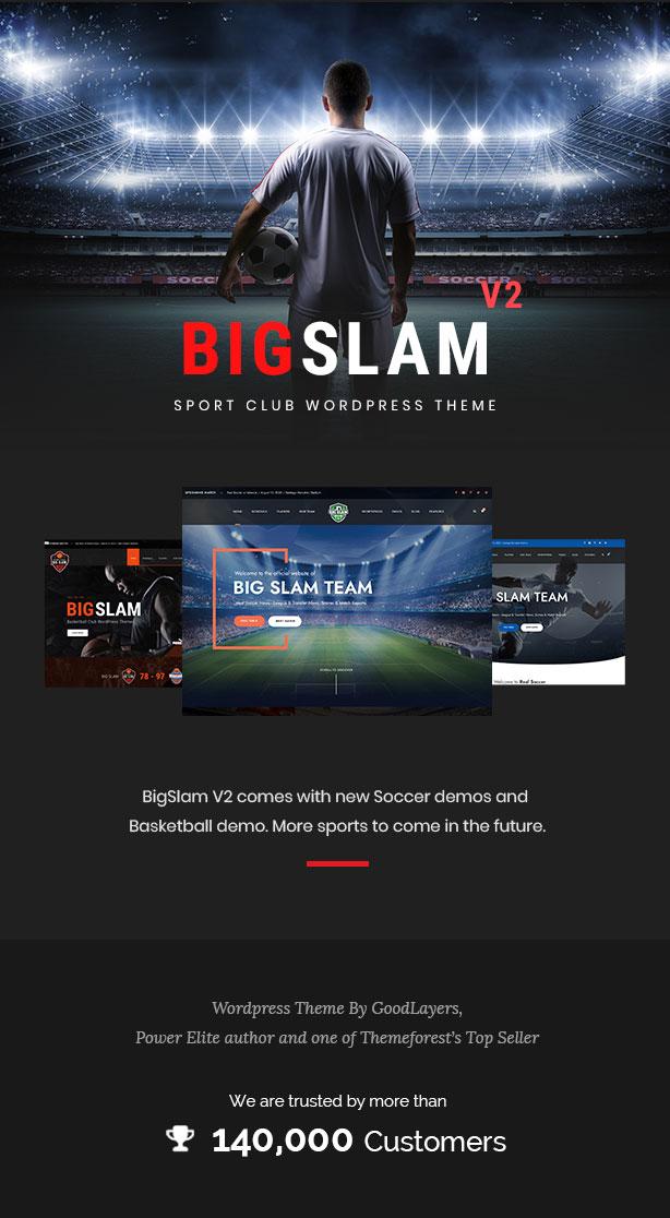 Big Slam Sport Clubs - Soccer WordPress - 1