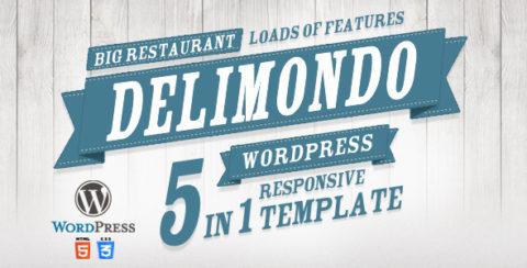 Delimondo Responsive Wordpress Theme | 5 Styles