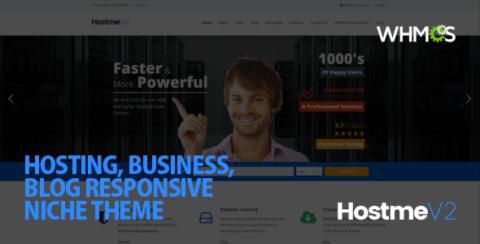 Hostme v2 - Responsive WordPress Theme