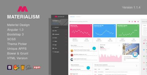 Materialism - Angular Bootstrap Admin Template