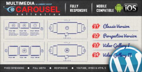 Multimedia Responsive Carousel with Image Video Audio Support - WordPress Plugin
