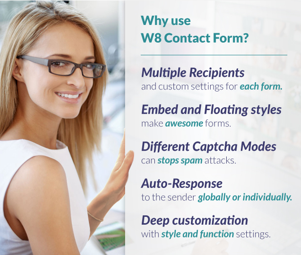 W8 Contact Form Features