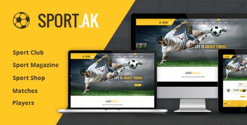 WordPress Sports Theme - SportAK